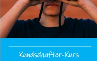 Neue Wege im Blick: Flyer-Motiv des Kundschafterkurses.