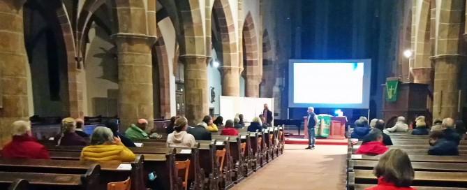 """Regionalkonferenz der Kooperationszone """"Storchengemeinden"""" am 29. September 2020, coronabedingt in der Stiftskirche Landau. Foto: privat"""